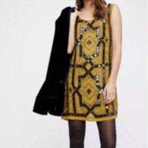 Free People Speak Easy Sequin Beaded Mini Dress 8